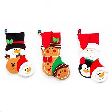 1 szt kreskówki świątecznych pończoch torebki na prezenty świąteczne dekoracje