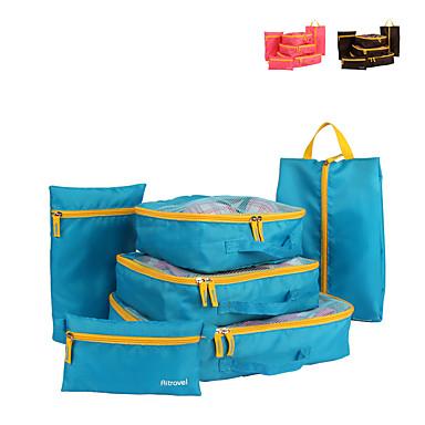ราคาถูก กระเป๋าเดินทาง-6 ชุด กระเ๋าเดินทาง / ผู้จัดการท่องเที่ยว / Packing Organizer Large Capacity / Travel Storage / มัลติ-ฟังก์ชั่น Vêtements Net Fabric เดินทาง