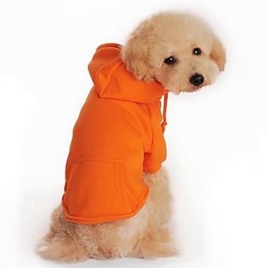 Chat Chien Pulls à capuche Vêtements pour Chien Décontracté / Quotidien Sportif Solide Noir Orange Gris Rouge Costume Pour les animaux