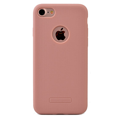 Case Kompatibilitás iPhone 7 Plus iPhone 7 Apple iPhone 7 Plus iPhone 7 Porálló Fekete tok Tömör szín Puha TPU mert iPhone 7 Plus iPhone 7