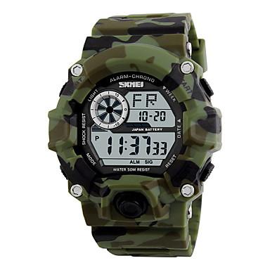זול שעוני גברים-SKMEI בגדי ריקוד גברים שעון יד ציד דיגיטלי גומי שחור / ירוק 30 m עמיד במים Alarm לוח שנה דיגיטלי קסם - ירוק כחול הסוואה שנתיים חיי סוללה / כרונוגרף / LCD / Maxell626 + 2025
