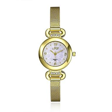 아가씨들 패션 시계 팔찌 시계 캐쥬얼 시계 방수 석영 합금 밴드 참 캐쥬얼 골드