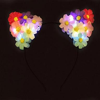 láz világít macska fülét virág fejpánt vezetett százszorszép fejpánt halloween giftchristmas ajándék party ajándék