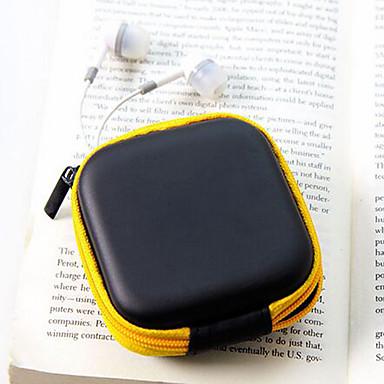podróżne ze skóry Materiał słuchawki portmonetki (losowy kolor)