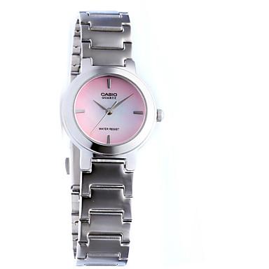 여성용 패션 시계 캐쥬얼 시계 석영 방수 스테인레스 스틸 밴드 캐쥬얼 실버