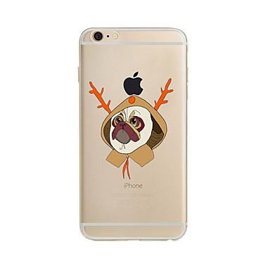 Case Kompatibilitás Apple iPhone X iPhone 8 Plus iPhone 7 iPhone 6 iPhone 5 tok Áttetsző Minta Hátlap Karácsony Puha TPU mert iPhone X