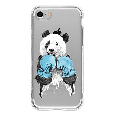 Case Kompatibilitás Apple iPhone 6 iPhone 7 Plus iPhone 7 Minta Fekete tok Cica Panda Puha TPU mert iPhone 7 Plus iPhone 7 iPhone 6s Plus