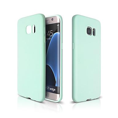 Кейс для Назначение SSamsung Galaxy Кейс для  Samsung Galaxy Ультратонкий Кейс на заднюю панель Сплошной цвет Мягкий ТПУ для S7 edge S7