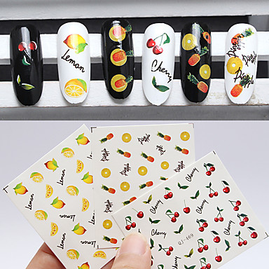 3pcs 물 이동 스티커 패션 일상 고품질