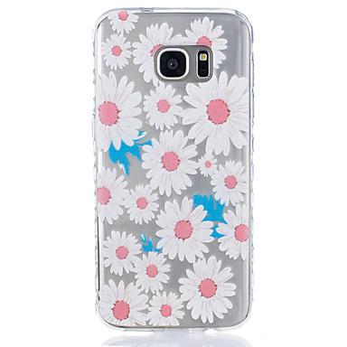 Mert Átlátszó / Minta Case Hátlap Case Virág Puha TPU Samsung S7 edge / S7 / S6 / S5