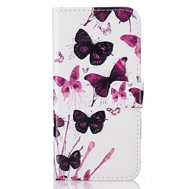 용 지갑 / 카드 홀더 / 스탠드 / 플립 / 패턴 케이스 풀 바디 케이스 버터플라이 하드 인조 가죽 Apple아이폰 7 플러스 / 아이폰 (7) / iPhone 6s Plus/6 Plus / iPhone 6s/6 / iPhone SE/5s/5