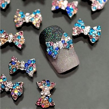 10 Nail Art dekoráció strasszos gyöngy smink Kozmetika Nail Art Design
