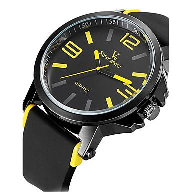 V6 남성용 스포츠 시계 밀리터리 시계 드레스 시계 패션 시계 손목 시계 석영 일본 쿼츠 방수 실리콘 밴드 빈티지 멋진 캐쥬얼 블랙