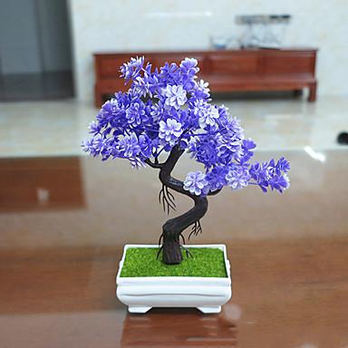 인공 꽃 2pcs 분기 폴리에스터 플랜츠 테이블  플라워