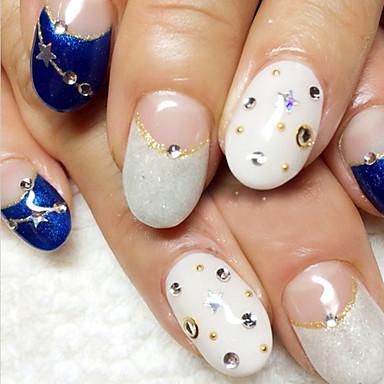 50 Nail Art dekoráció strasszos gyöngy smink Kozmetika Nail Art Design