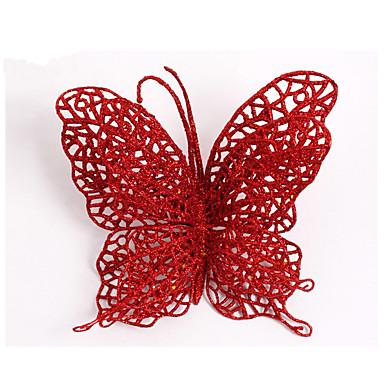 15cm święta motyl rzuca Ozdoby świąteczne ozdoby choinkowe eksploatacyjnych dekoracji motyl