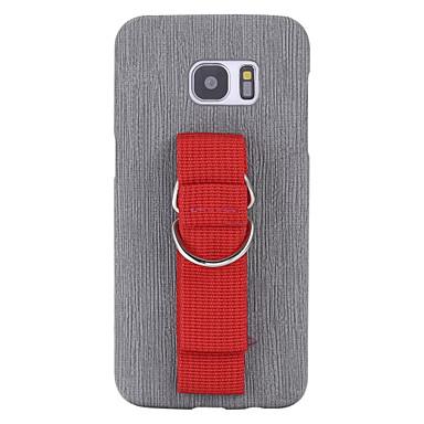 Case Kompatibilitás Egyéb Samsung Galaxy S7 edge S7 Ultra-vékeny Fekete tok Egyszínű Puha PU bőr mert S7 edge S7 S6 edge plus S6 edge S6