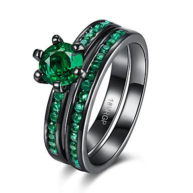Damen Kupfer vergoldet Ring - Einzigartiges Design Retro Purpur Grün Blau Ring Für Geburtstag Party Geschenk Alltag