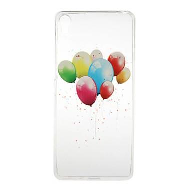 Mert Sony tok Átlátszó / Minta Case Hátlap Case Léggömb Puha TPU mert Sony Sony Xperia X / Sony Xperia XA / Sony Xperia E5