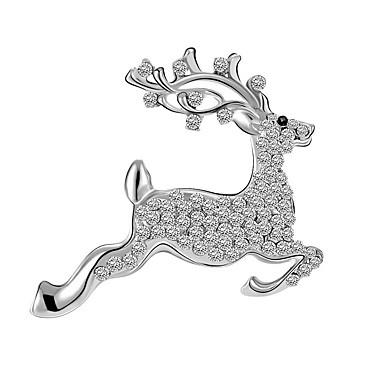 여성용 디어 모조 다이아몬드 브로치 - 사치 / 유럽의 / 크리스마스 동물 실버 / 골든 브로치 제품 일상 / 캐쥬얼