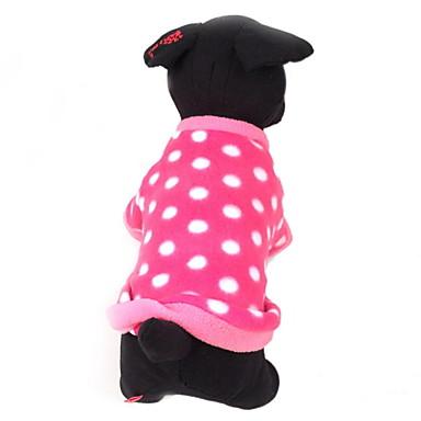 Собака Свитера Одежда для собак Горошек Розовый Флис Костюм Для домашних животных Жен. На каждый день Сохраняет тепло