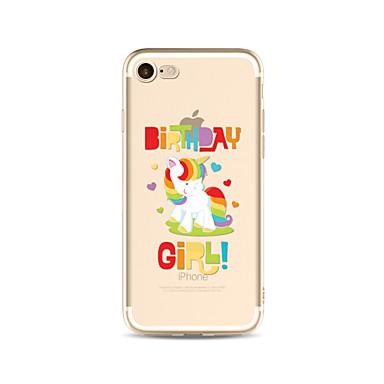 케이스 제품 Apple iPhone X iPhone 8 Plus iPhone 7 iPhone 6 아이폰5케이스 반투명 패턴 뒷면 커버 유니콘 소프트 TPU 용 iPhone X iPhone 8 Plus iPhone 8 아이폰 7 플러스 아이폰