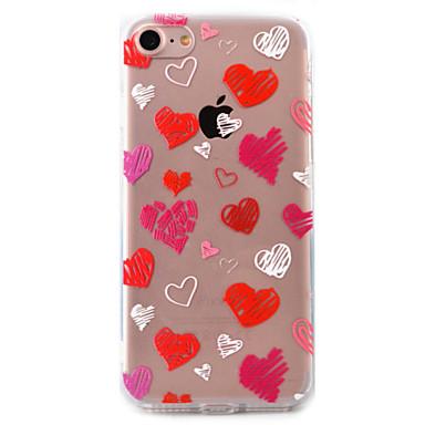 Mert Átlátszó / Minta Case Hátlap Case Szív Kemény Akril Apple iPhone 7 Plus / iPhone 7 / iPhone 6s Plus/6 Plus / iPhone 6s/6