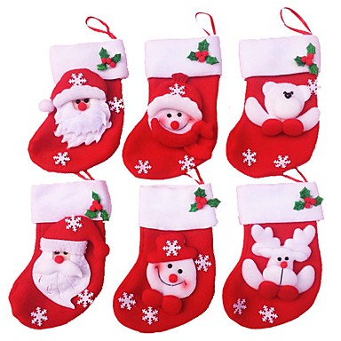 12db karácsonyi csizma karácsonyi díszek és party dekoráció (stílus véletlenszerű)