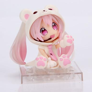 Anime Akciófigurák Ihlette Szerepjáték Snow Miku PVC 14 CM Modell játékok Doll Toy