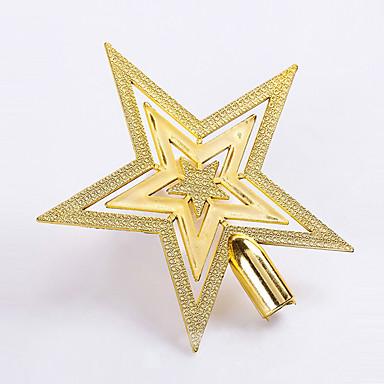 1PCS 20cm 선택 크리스마스 트리 TOPSTAR 장식 집에 크리스마스 장식 플라스틱 다섯개 별 도금