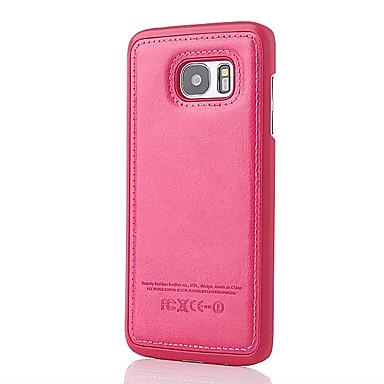 Case Kompatibilitás Samsung Galaxy S7 edge S7 Ütésálló Hátlap Tömör szín Kemény Műbőr Bőr mert S7 edge S7 S6 edge S6 S5