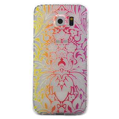 tok Για Samsung Galaxy S7 edge S7 Διαφανής Με σχέδια Πίσω Κάλυμμα Λουλούδι Μαλακή TPU για S7 edge S7 S6 edge S6 S5
