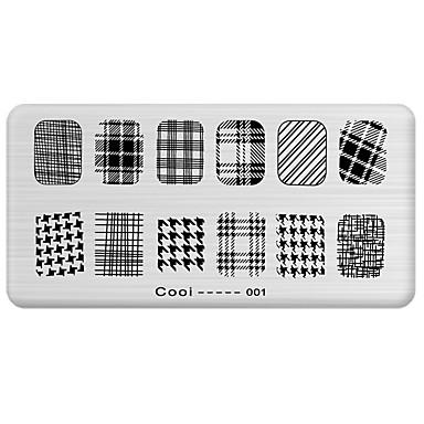 Stempel stemplowania paznokci obraz szablon Płyta fajna seria