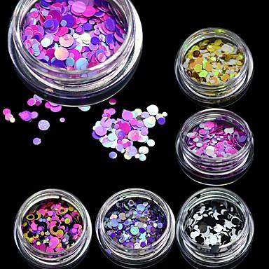 1 pcs Glitter & Poudre Glitters / Divat Szeretetreméltő Napi Körömművészeti tervezés