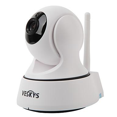 veskys® t2 720p 1,0 mp wi-fi IP-kamera (päivätyö / liiketunnistus / etäkäyttö / ir-cut / plug and play)