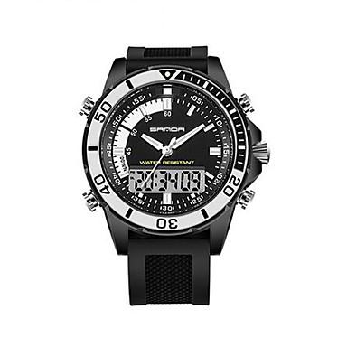 SANDA Erkek Spor Saat Asker Saat Akıllı İzle Moda Saat Bilek Saati Dijital Japon Kuvartz Kronograf Su Resisdansı LED Gece Parlayan Çift