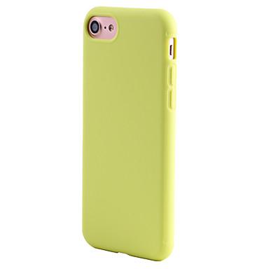 Pouzdro Uyumluluk Apple iPhone 5 Kılıf iPhone 6 iPhone 7 Şoka Dayanıklı Arka Kapak Tek Renk Yumuşak TPU için iPhone 7 Plus iPhone 7
