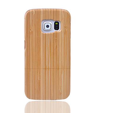 Pouzdro Uyumluluk Samsung Galaxy S7 edge S7 Other Arka Kılıf Tek Renk Sert Bambu için S7 edge S7 S6 edge plus S6 edge S6