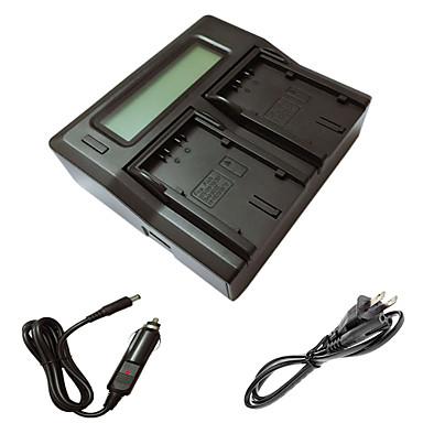 ismartdigi D28S LCD podwójny ładowarka z kablem ładowania samochodów do Panasonic md10000 ds25 batterys kamer DS27 MX3 MX500 GS15