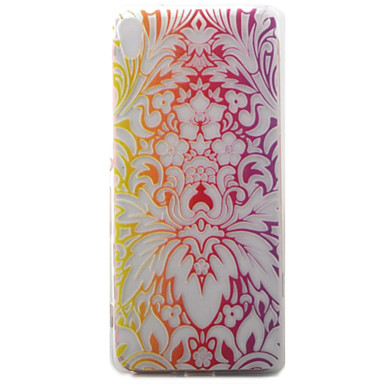 Για sony xperia xa κάλυψη περίπτωσης περίπτωσης λουλουδιών μοτίβο ζωγραφισμένο υλικό tpu υλικό