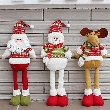 1db Hóember Santa Karácsonyi figurák Karácsony Újdonságok Parti, Ünnepi Dekoráció Ünnepi díszek