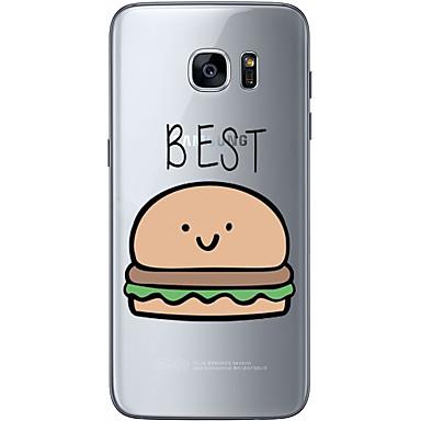 Etui Käyttötarkoitus Samsung Galaxy S7 edge S7 Ultraohut Läpinäkyvä Kuvio Takakuori Joulu Pehmeä TPU varten S7 edge S7 S6 edge plus S6
