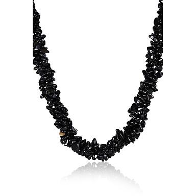 Kadın Gerdanlıklar Kristal Eski Tip Bohemia Stili Siyah Mücevher Için Parti Günlük 1pc