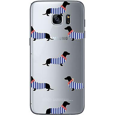 tok Για Samsung Galaxy S7 edge S7 Με σχέδια Πίσω Κάλυμμα Σκύλος Μαλακή TPU για S7 edge S7 S6 edge plus S6 edge S6