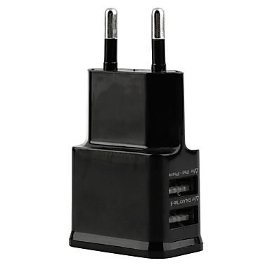 Ev Şarj Cihazı / Taşınabilir şarj USB Şarj Aleti EU Priz Çoklu Bağlantı Noktası 2 USB Bağlantı Noktası 2.1 A