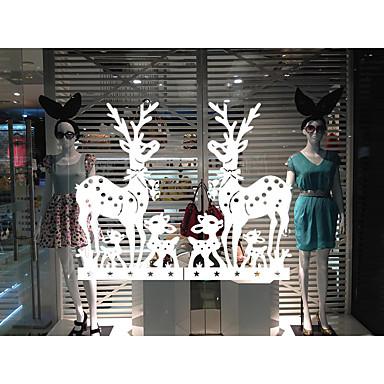 동물 크리스마스 벽 스티커 플레인 월스티커 데코레이티브 월 스티커 홈 장식 벽 데칼 유리 / 욕실 벽