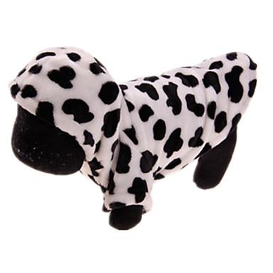 Köpek Paltolar Köpek Giyimi Günlük/Sade Leopar Beyaz/Siyah