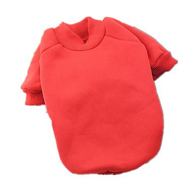 كلب كنزة ملابس الكلاب كاجوال/يومي الدفء صلب أحمر كوستيوم للحيوانات الأليفة