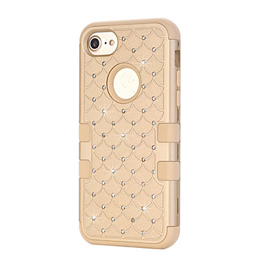 tok Για Apple Θήκη iPhone 5 iPhone 6 iPhone 7 Ανθεκτική σε πτώσεις Στρας Πλήρης Θήκη Συμπαγές Χρώμα Σκληρή Σιλικόνη για iPhone 7 Plus