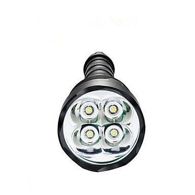 LED Flashlights LED 3800 lm 5 طريقة LED ضد الماء ضوء سوبر عالية الطاقة تخفيت إلى Camping/Hiking/Caving Everyday Use أخضر الصيد صيد السمك